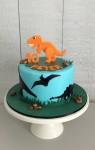 2D Dinosaur Cake