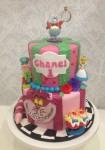 Alice in Wonderland  5 inch on 7 inch Cake