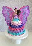 Barbie Mariposa Petal Dolly Varden Cake