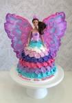 Barbie Mariposa Petal Dolly Varden Cake
