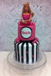Barbie Pink & Black Cake