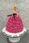 Barbie Rosette Dolly Varden Cake