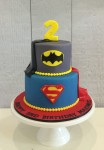 Batman & Superman Cape Cake