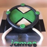Ben 10 Omnitrix 9 inch cake with extra sides