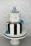Black Wafer Paper 60th Cake