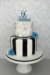 Black Wafer Paper 60th Cake
