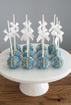Blue & Gold Cake Pops