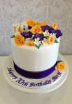 Bouquet Of Flowers  6 inch double barrell cake