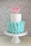 Buttercream Swirl Cake with Ruffles