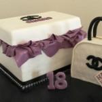 Chanel Box & Handbag  12 inch x 8 inch box with approx 7 inch bag