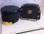 Black Chanel Handbag with hat box
