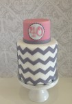 Grey Chevron  4 inch on 6 inch  Double Barrel