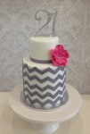 Grey Chevron  4inch on 6 inch  Double Barrel