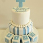 Blue & white stripes  with 4 blocks 5 inch on 7 inch