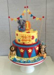 Circus Themed cake 7inch on 9 inch