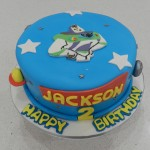 Buzz Lightyear with 2D Character 8 inch cake