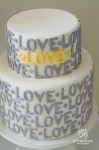 'Love' Cake $265.00 5 inch on 7 inch Double Barrell