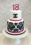 Damask With Magenta Pink Cake