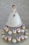 Dolly Varden & Petit Four Cupcakes