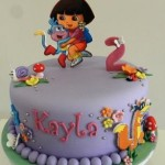 Dora Boots & Swiper  8 inch with 3 edible characters