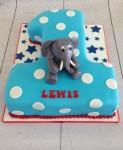 Elephant Number 1 Cake