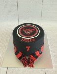 Essendon Football Club Cake With Scarf