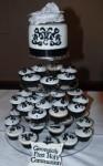 Black & White Scrolls Standard Cupcakes $50/doz