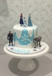 Frozen Cake With Plastic Figurines