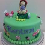 Garden Fairy Cake with figurine  10 inch