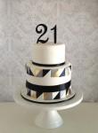 Geometric 21st Cake