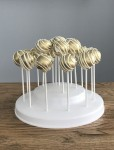 Gold & White Stripe Cake Pops