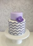 Grey Chevron  5 inch on 7 inch  Double Barrel