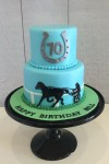 Harness Racing Theme Cake 5inch on 7 inch