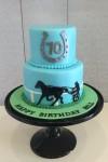 Harness Racing Theme Cake 5inch on 7 inch