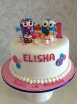 Hoot & Hootabelle with figurines & picnic Cake 9 inch