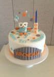 Hoot The Owl Pastel Cake