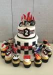Motor Bike Cake & Cupcakes
