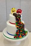 M&M 2 Tier Cake