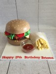 Hamburger & Chips Cake