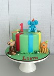 Jungle Animals Cake Bright