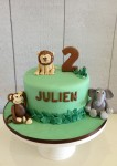 Jungle Theme Cake with Frog 7 inch
