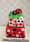 Ladybug Cake  6 inch on 8 inch