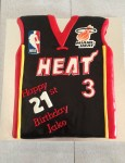 Miami Heat Basketball Jersey  10 x 8 inch Cake
