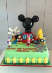 "Mickey Mouse Playhouse  12 "" x10 "" Rectangle  Not including Plastic Figurines"