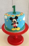 Mickey Mouse  Cake with 2D design5 inch