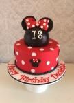 Minnie Mouse Red Cake 2