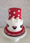 Minnie Mouse Red Silhouette Cake