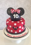 Minnie Mouse Cake Red 7 inch