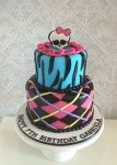 Monster High Checkered Cake