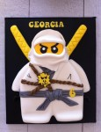 Lego Ninjago  approx 9 inch x 7 inch Cake